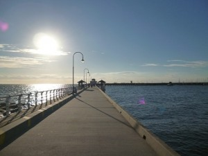Looking Down St Kilda Pier