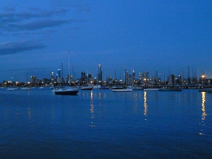 Melbourne At Sunset from St Kilda Pier breakwater