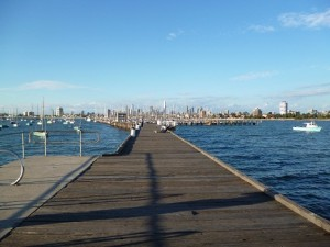 Melbourne City Landscape From St Kilda Pier