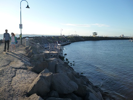 The Viewing Area On St Kilda Breakwater where you can find the St Kilda penguins
