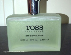 A bottle of Toss