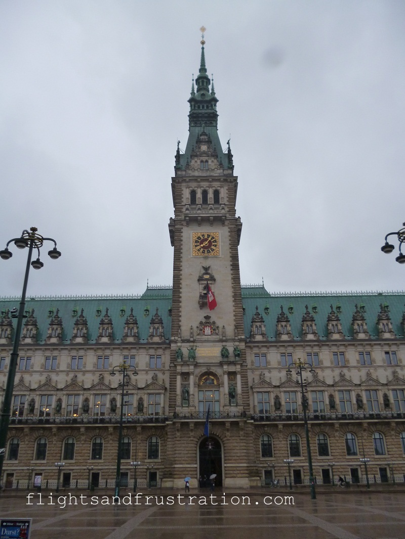 The Hamburg Town Hall tower is 112 metres high and has 436 steps