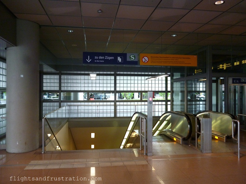 Stairs to the train station at Hamburg Airport