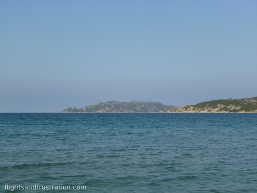 Looking out towards Isola Molara