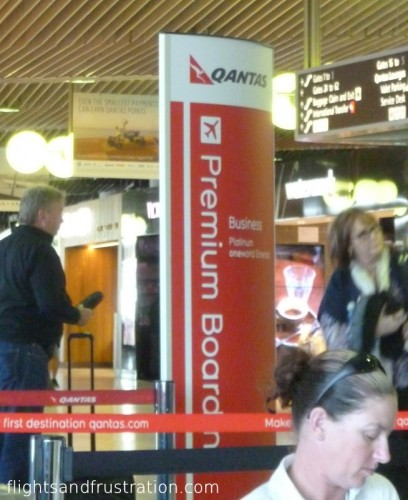 Premium Boarding on Qantas