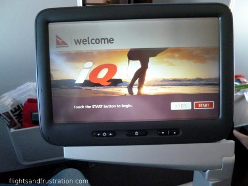 Qantas IQ with large touch screen TV