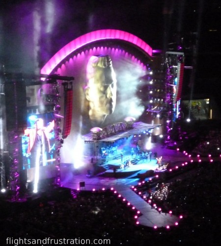 The stage for Robbie Williams at Wembley 2013