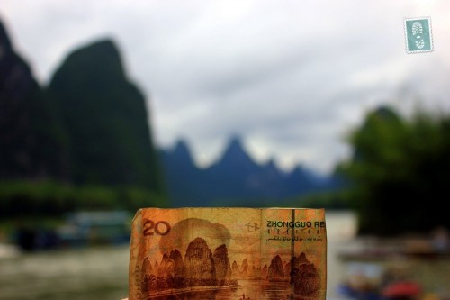 Yangshu River and Chinese money