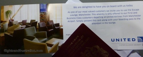 My invitation to the Escape Lounge at Manchester Airport