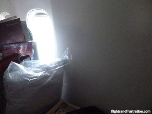 I had a window seat, oh hold on, where is the window?