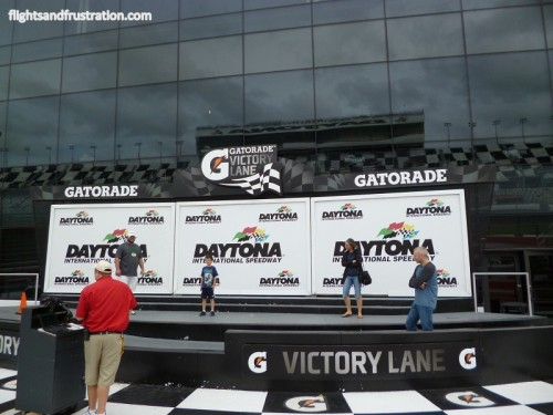 Daytona 500 Victory Lane or winners podium
