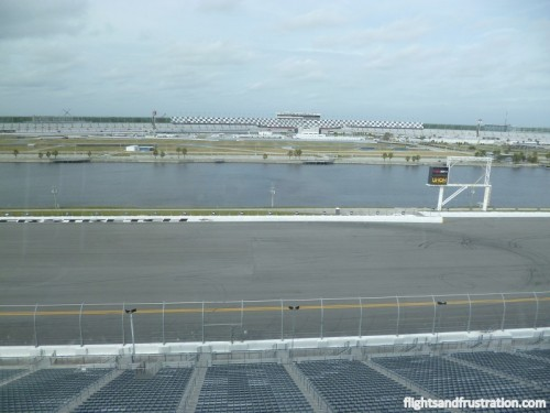 View of Daytona Raceway from a Corporate box