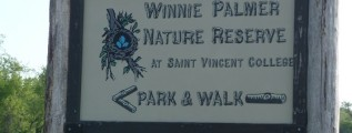 Winnie Palmer Nature Reserve sign